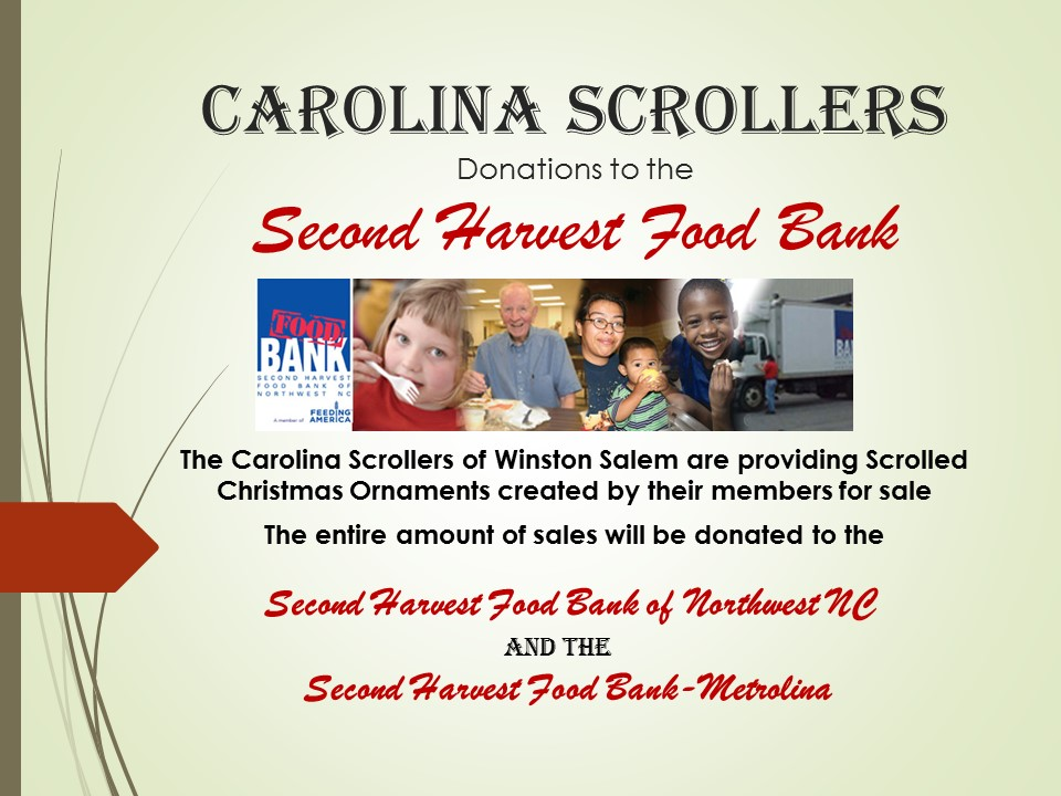 Carolina Scrollers Second Harvest Food Bank